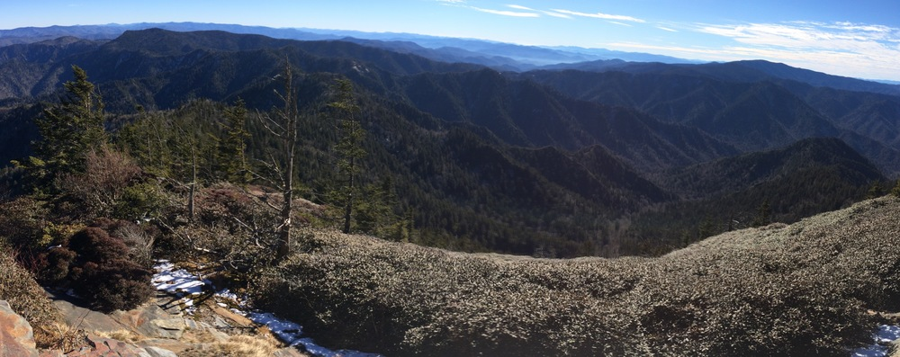 iPhone pano from atop Myrtle Point.  I was too tired to correct the horizon...:)