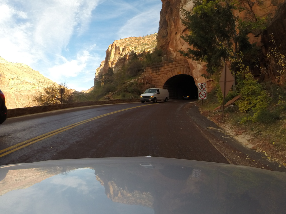 Entrance to the Mt. Carmel tunnel. (GoPro)