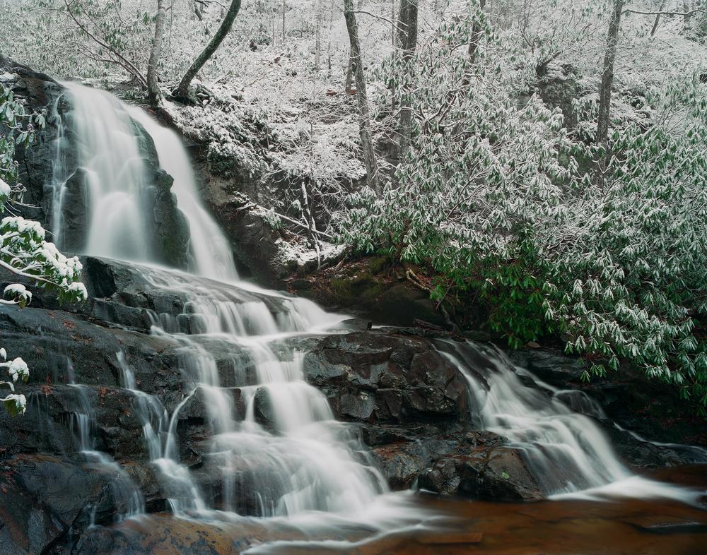 Snowy Laurel Falls