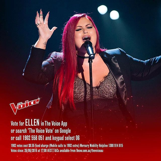 It would mean the absolute world to me if you all could vote for my friend @ellenreedmusic on The Voice App or on The Voice via web search. Make sure you use all 4 votes for her ❤️ #thevoiceau #ellenreed #bestvoice