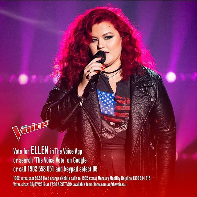 Ok insta followers, it's time that ya'll helped me out 😉 PLEASE. Download 'The Voice' app and use all 4 votes for Ellen. Then 'Google' The Voice voting and use another 4 votes for Ellen. She slayed Jack this week, sorry but it's true. Let's get behind this legend in the making! #thevoice #ellenreedmusic #vote #helpme