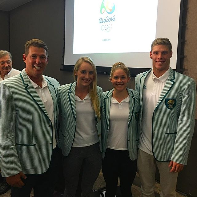 Olympic ready! Tonights blazer ceremony was inspiring 🤗 14 days until I leave 🇦🇺 #rioready #comewithus #australia #olympics #sunshinecoastrep