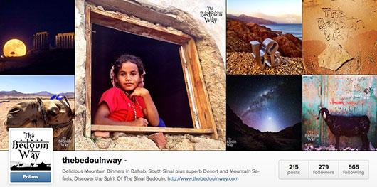 The Bedouin Way's Instagram page