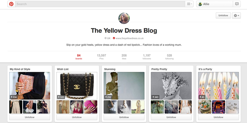 Yellow Dress Blog Pinterest