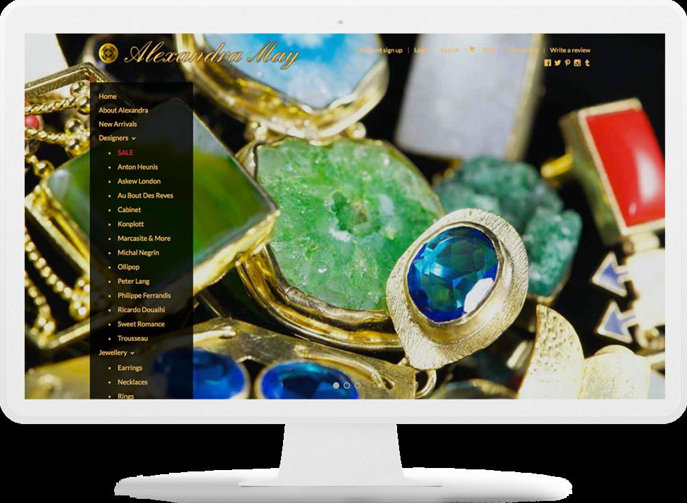 Alexandra May homepage