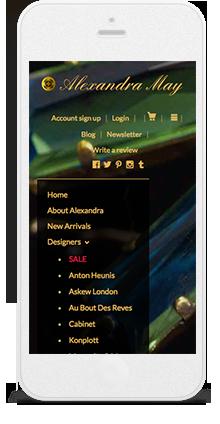 Shopify mobile websites
