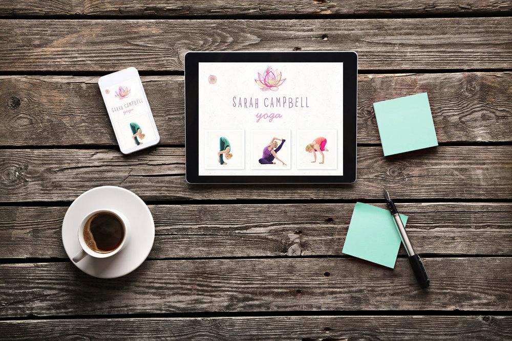 Responsive web design Sarah Campbell Yoga