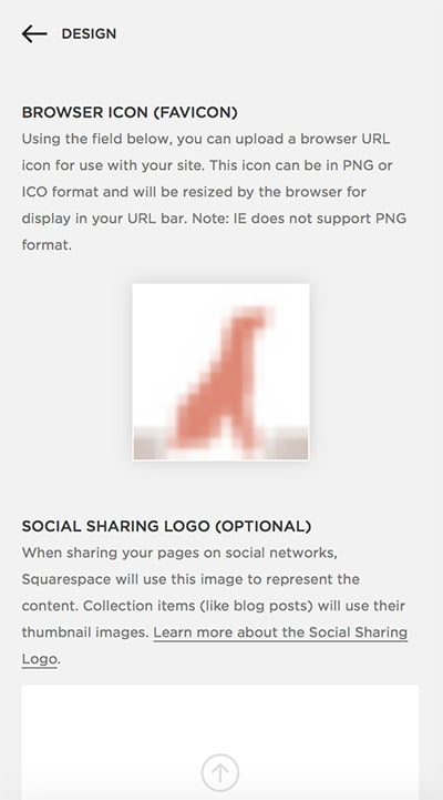 Favicon Settings Squarespace