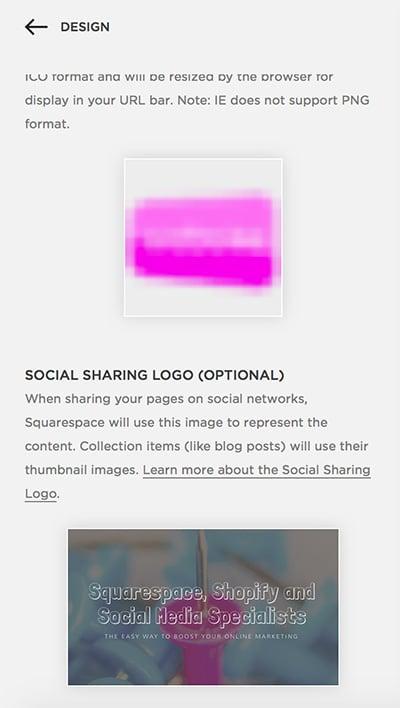 Social Sharing Logo Squarespace
