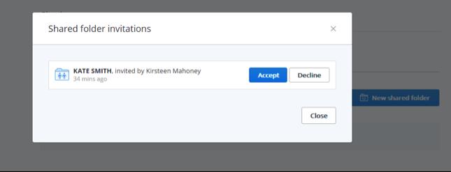 Dropbox accept invite