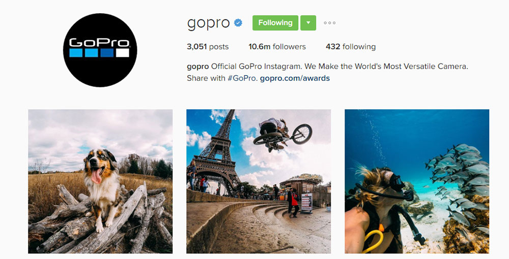 Go Pro Instagram Account