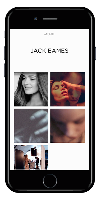 photographer squarespace website avenue template mobile view