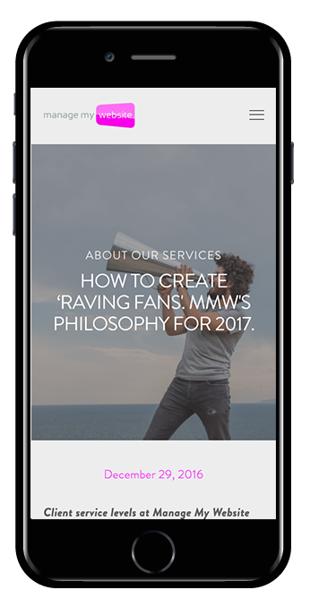 digital agency squarespace website hayden template mobile view