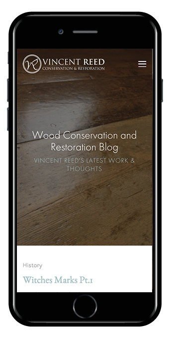wood conservation squarespace website hayden template mobile view