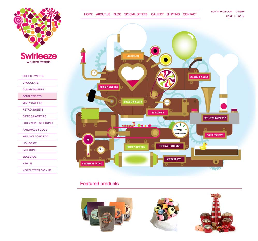 Swirleeze Sweets original website Zen Cart