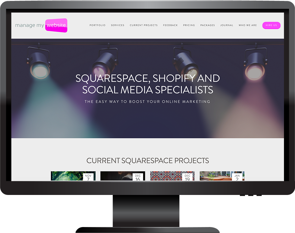 digital agency squarespace website hayden template desktop view