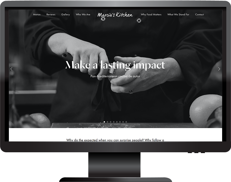 chef squarespace website pacific template desktop view