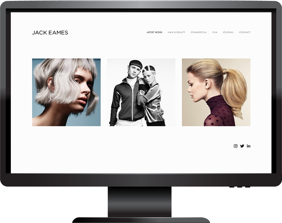 photographer squarespace website avenue template desktop view