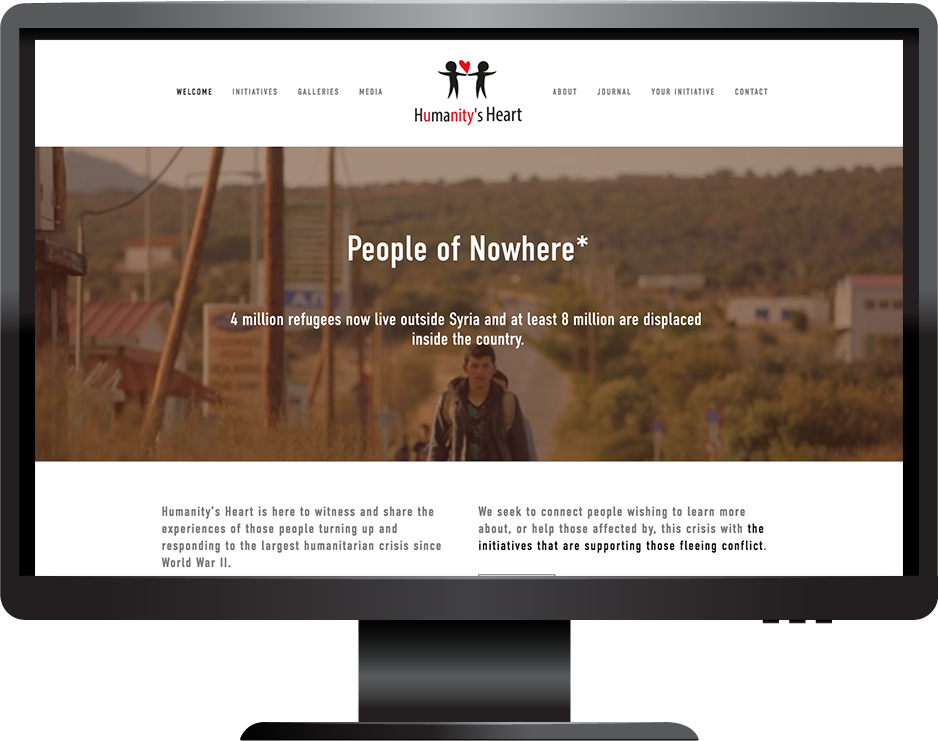 Non profit squarespace website hayden template desktop view