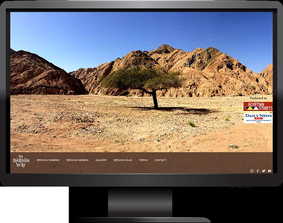 tourism squarespace website frontrow template desktop view