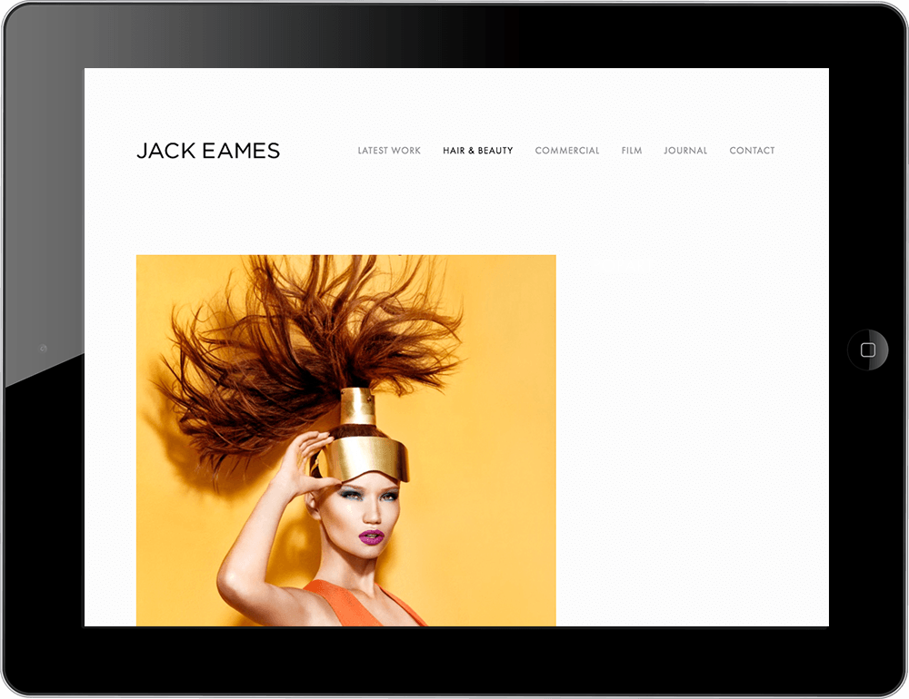 photographer squarespace website avenue template tablet view