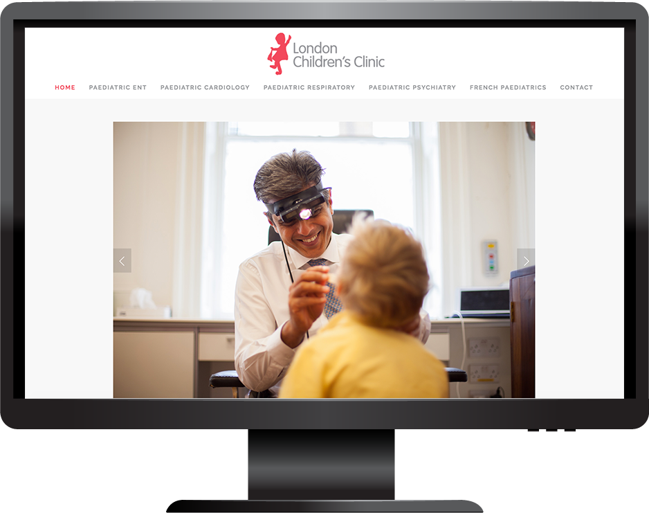 London Children's Clinic website desktop view