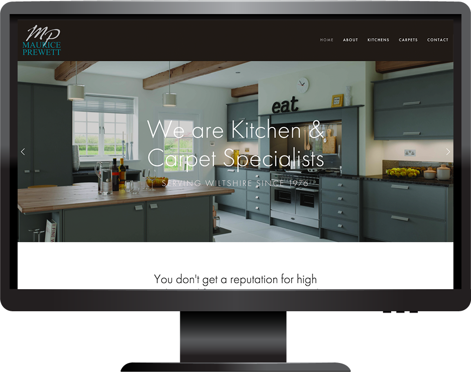 kitchens carpets squarespace website desktop view