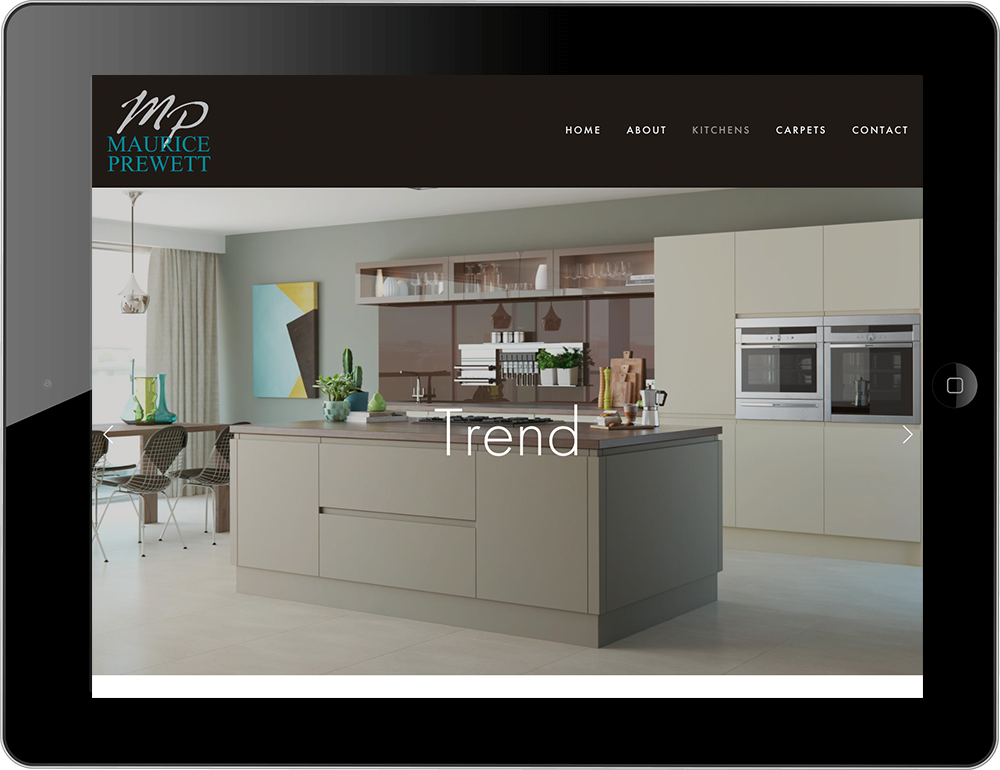 kitchens carpets squarespace website tablet view