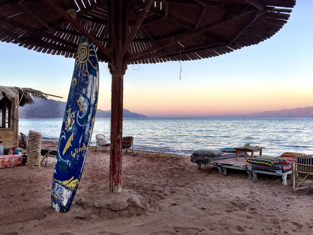 Dahab Egypt at sunset