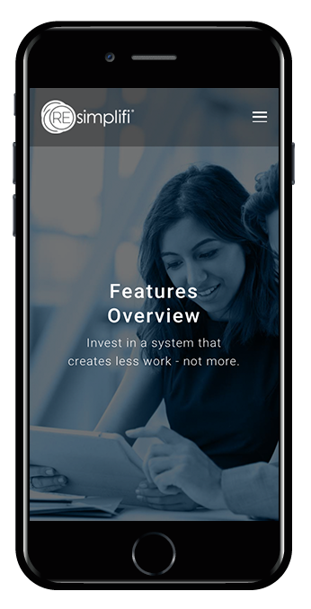 Commercial real estate squarespace website hayden template mobile view