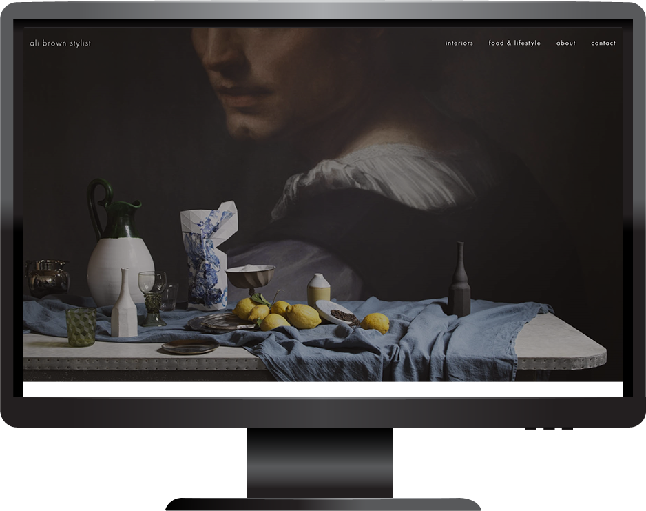 Stylist Squarespace website desktop view
