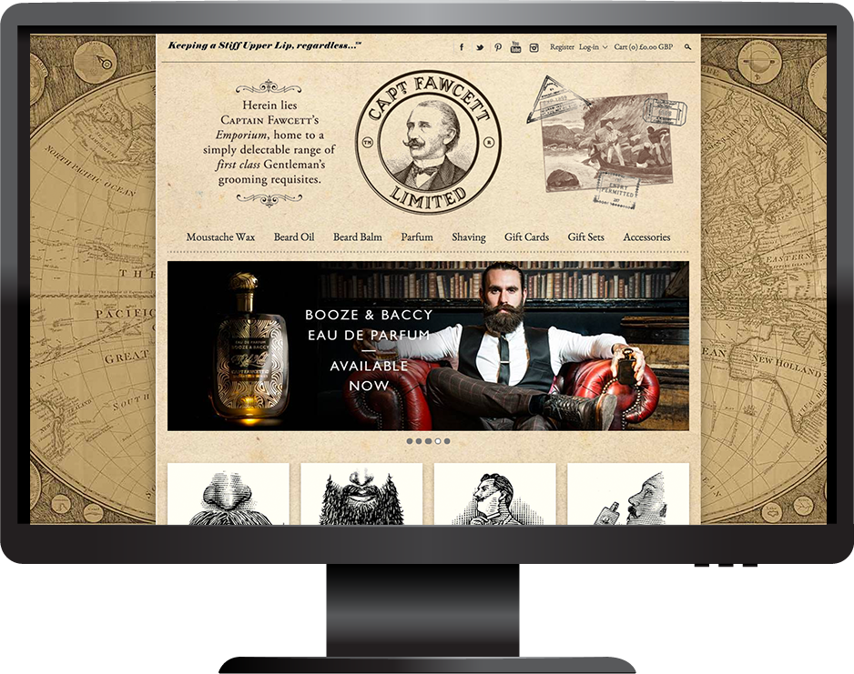 Captain Fawcett Shopify website