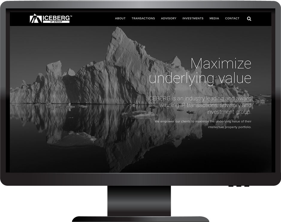 Squarespace business services website desktop