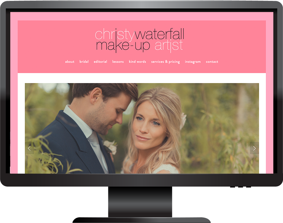 Squarespace make-up artist website
