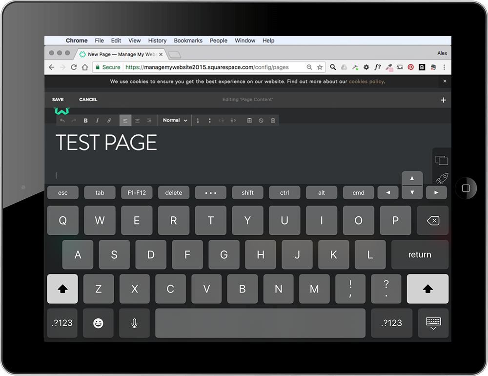 Updating your Squarespace website on a mobile device