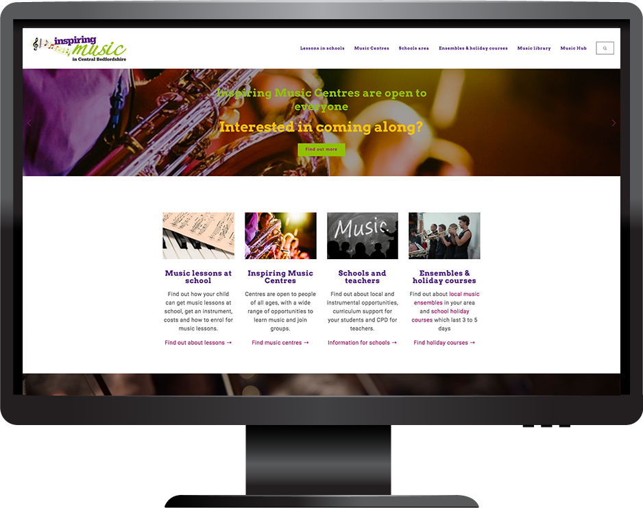 Inspiring Music Central Bedfordshire Council Squarespace Website