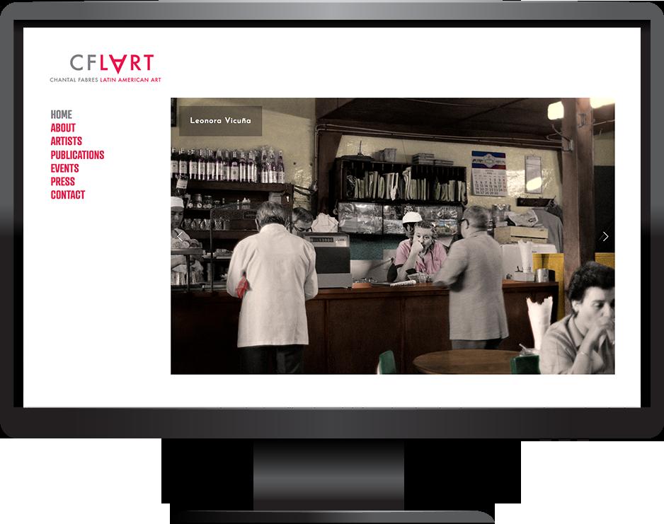 CF-LART website desktop view