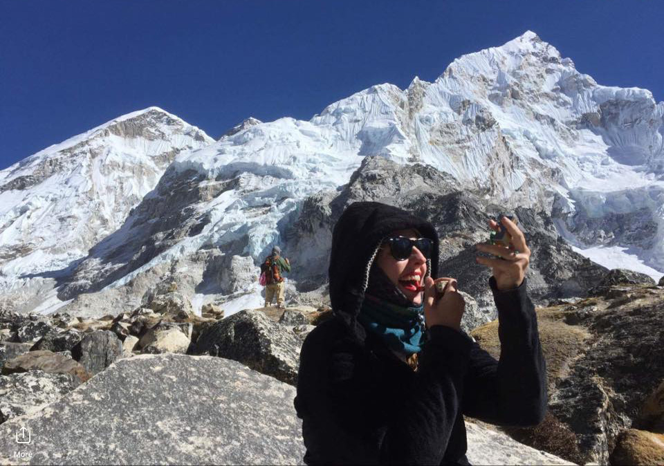 Valerie at Everest Basecamp