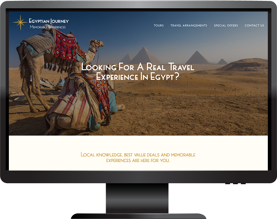 Tourism in Egypt Squarespace website