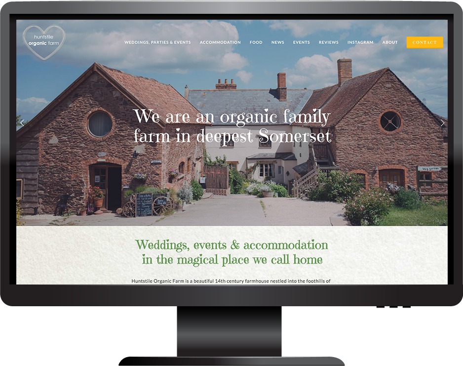 Squarespace wedding venue website
