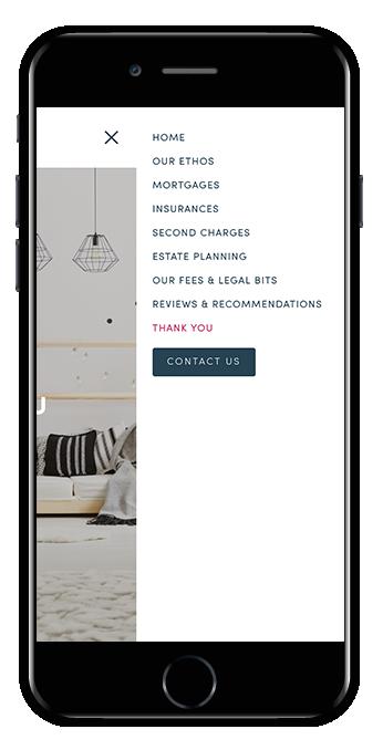 Mobile menu Squarespace