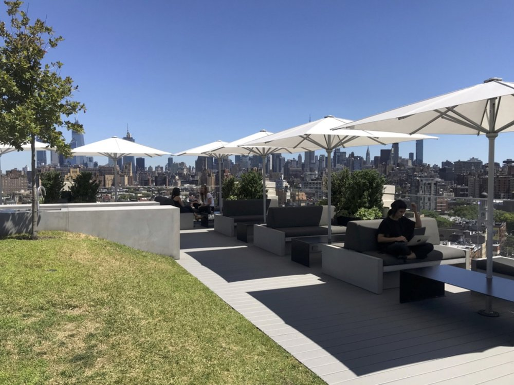 Roof terrace above Squarespace