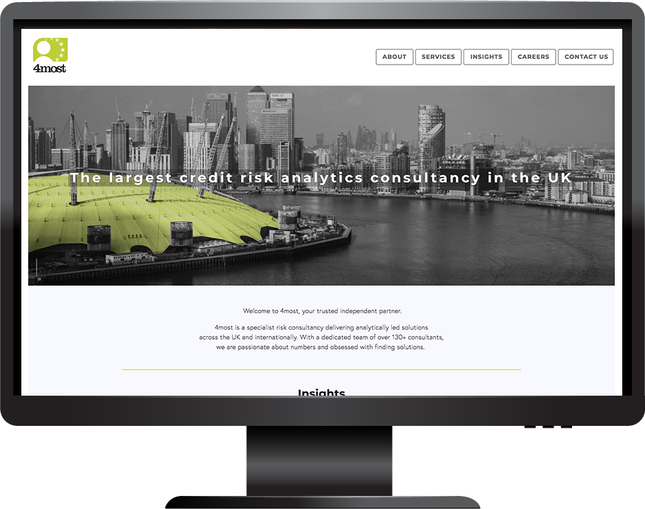 Banking and Finance Squarespace website