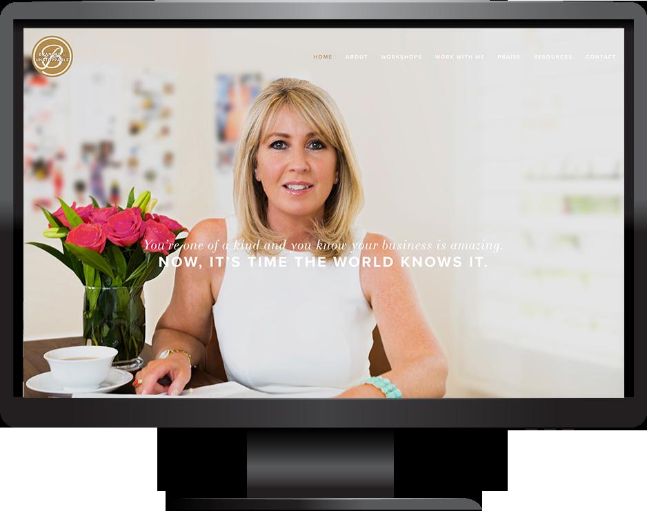 Branding workshops Squarespace website