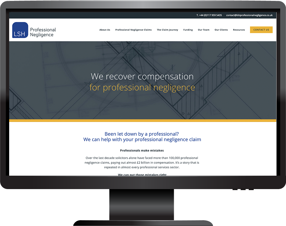 Squarespace legal services website