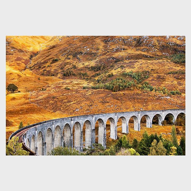 The cinematically-famous Glenfinnan Viaduct. ⠀⠀⠀⠀⠀⠀⠀⠀⠀ This image was captured last year whilst driving for 10 days in a campervan, exploring from Glasgow into the Lakes District, up to the Isle of Skye and then all the way down the west coast of the British Isles, through Snowdonia and into the Jurassic Coast. ⠀⠀⠀⠀⠀⠀⠀⠀⠀ More from that trip is at the link in my bio