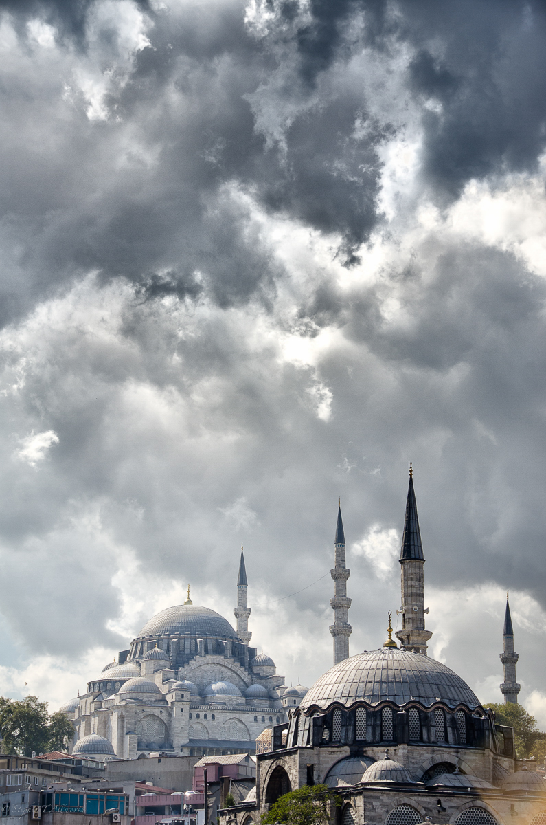suleymaniye mosque, turkey by steven allworth
