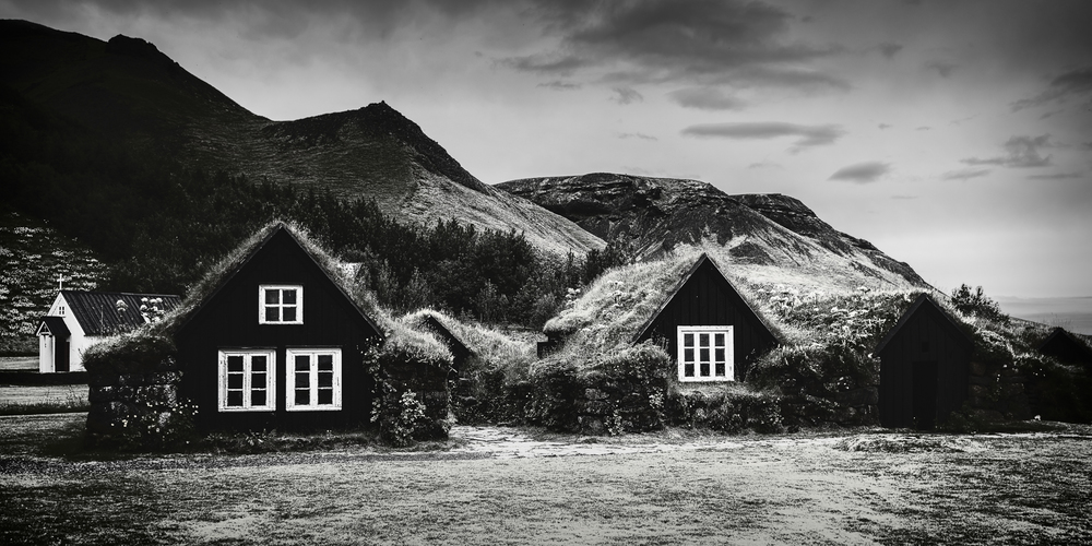 Skoga Farm, Iceland. Processed with NIK Silver Efex Pro (C) Michael Smyth 2016