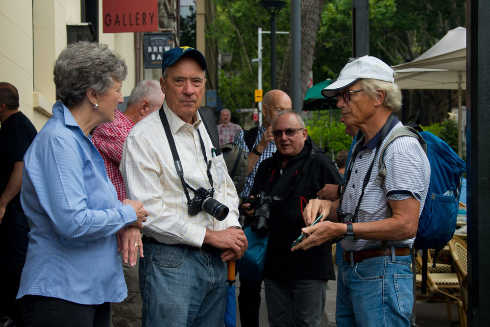 Lane Cove Creative Photography members preparing to set off on another weekday outing