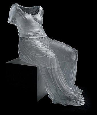 Glass sculptureby Karen LaMonte.